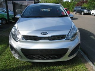 2013 Kia Rio UB MY13 S Silver 4 Speed Automatic Hatchback.