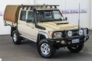 2019 Toyota Landcruiser VDJ79R GXL Double Cab Sandy Taupe 5 Speed Manual Cab Chassis.