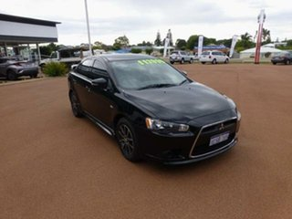 2014 Mitsubishi Lancer CJ MY14 ES Black 6 Speed CVT Auto Sequential Sedan.