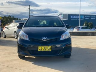 2014 Toyota Yaris NCP130R YR Black 4 Speed Automatic Hatchback.