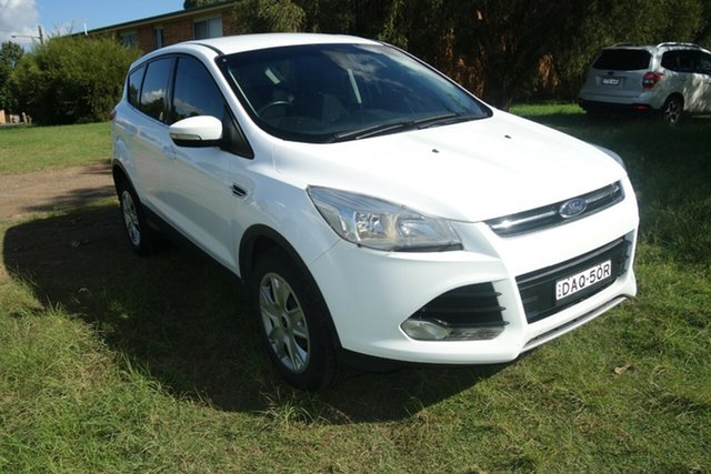 Used Ford Kuga TF MY16 Ambiente 2WD East Maitland, 2016 Ford Kuga TF MY16 Ambiente 2WD White 6 Speed Sports Automatic Wagon