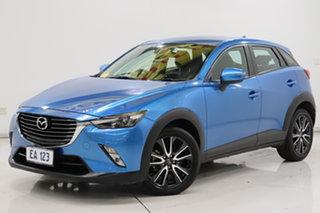 2017 Mazda CX-3 DK2W7A sTouring SKYACTIV-Drive Blue 6 Speed Sports Automatic Wagon.