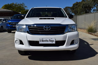 2014 Toyota Hilux KUN16R MY14 SR Double Cab 4x2 Glacier White 5 Speed Manual Utility.