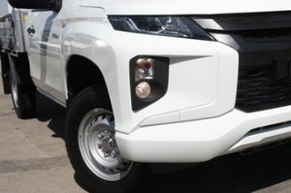 2021 Mitsubishi Triton MR MY21 GLX 4x2 White 6 Speed Sports Automatic Cab Chassis.
