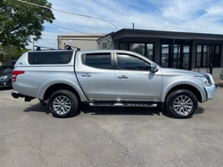 2016 Mitsubishi Triton MQ MY16 GLS Double Cab Silver 5 Speed Sports Automatic Utility.