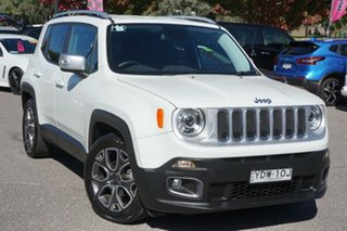 2016 Jeep Renegade BU MY16 Limited DDCT White 6 Speed Sports Automatic Dual Clutch Hatchback.