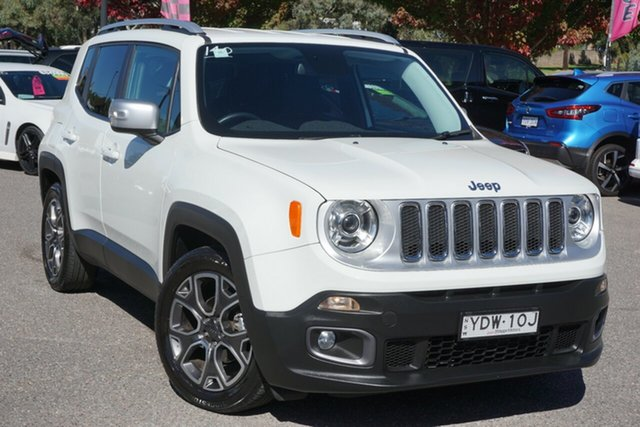 Used Jeep Renegade BU MY16 Limited DDCT Phillip, 2016 Jeep Renegade BU MY16 Limited DDCT White 6 Speed Sports Automatic Dual Clutch Hatchback