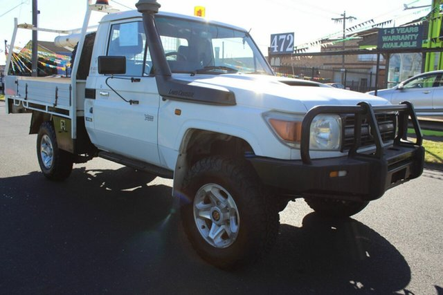 Used Toyota Landcruiser VDJ79R GX West Footscray, 2007 Toyota Landcruiser VDJ79R GX White 5 Speed Manual Cab Chassis