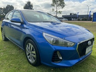2017 Hyundai i30 PD MY18 Active Marina Blue 6 Speed Sports Automatic Hatchback