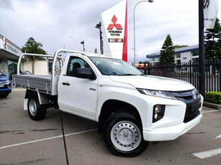 2021 Mitsubishi Triton MR MY21 GLX White 6 Speed Sports Automatic Cab Chassis.