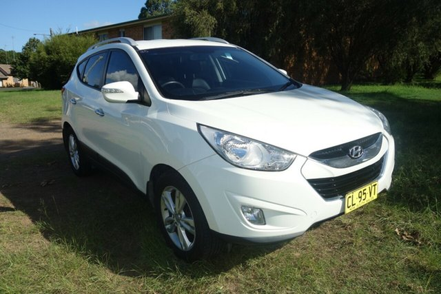 Used Hyundai ix35 LM2 Elite AWD East Maitland, 2012 Hyundai ix35 LM2 Elite AWD White 6 Speed Sports Automatic Wagon