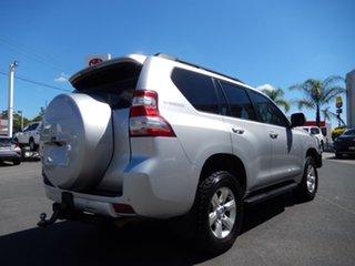 2014 Toyota Landcruiser Prado KDJ150R MY14 GXL (4x4) Silver Pearl 5 Speed Sequential Auto Wagon.