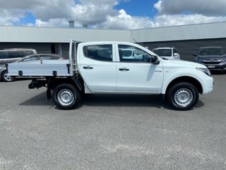2018 Mitsubishi Triton MQ MY18 GLX Double Cab White Solid 5 Speed Sports Automatic Cab Chassis