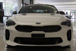 2020 Kia Stinger CK MY21 GT Fastback Snow White Pearl 8 Speed Sports Automatic Sedan.