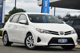 2012 Toyota Corolla ZRE182R Ascent S-CVT White 7 Speed Constant Variable Hatchback.
