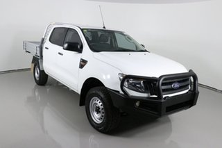 2015 Ford Ranger PX XL 2.2 (4x4) White 6 Speed Manual Crew Cab Chassis