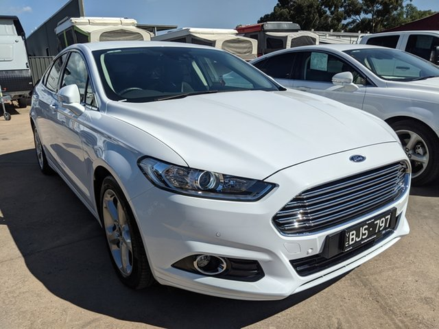 Used Ford Mondeo MD 2018.75MY Trend Epsom, 2018 Ford Mondeo MD 2018.75MY Trend White 6 Speed Sports Automatic Dual Clutch Hatchback