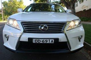 2013 Lexus RX GGL15R RX350 Sports Luxury White 6 Speed Sports Automatic Wagon.