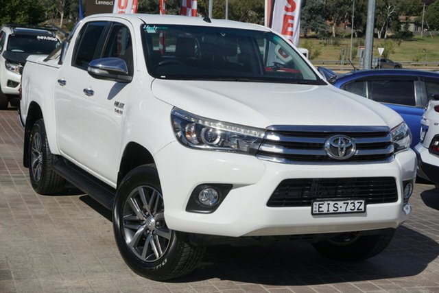 Used Toyota Hilux GUN126R SR5 Double Cab Phillip, 2015 Toyota Hilux GUN126R SR5 Double Cab White 6 Speed Manual Utility