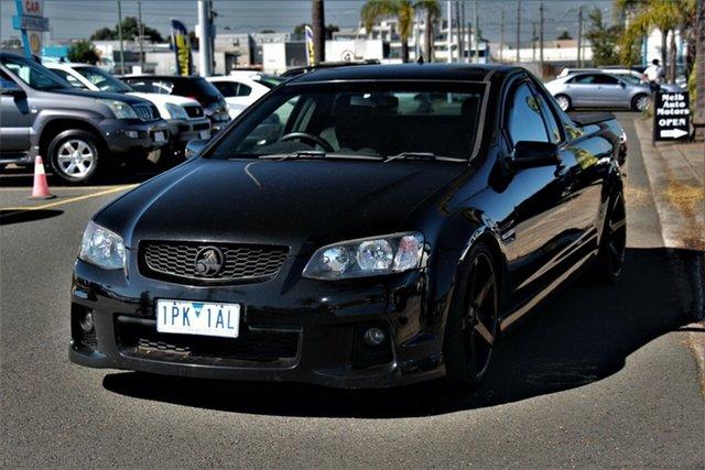 Used Holden Ute VE II SV6 Thunder Cheltenham, 2011 Holden Ute VE II SV6 Thunder Black 6 Speed Manual Utility