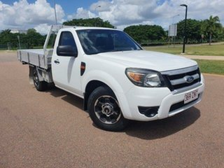 2009 Ford Ranger PJ XL Cool White 5 Speed Manual Cab Chassis.