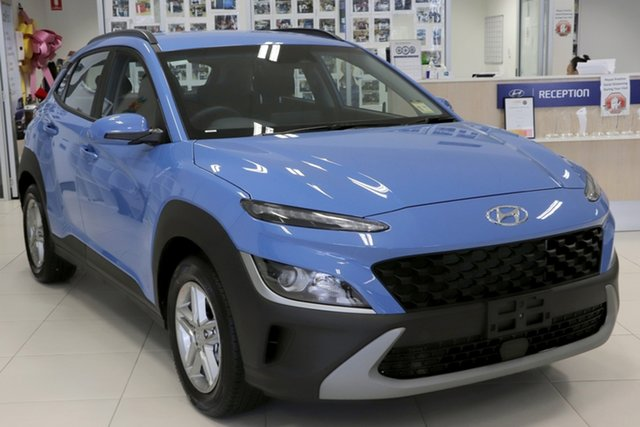 New Hyundai Kona Os.v4 MY21 2WD Tuggerah, 2021 Hyundai Kona Os.v4 MY21 2WD Surfy Blue 8 Speed Constant Variable Wagon