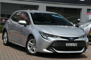 2019 Toyota Corolla ZWE211R SX E-CVT Hybrid Silver 10 Speed Constant Variable Hatchback Hybrid.