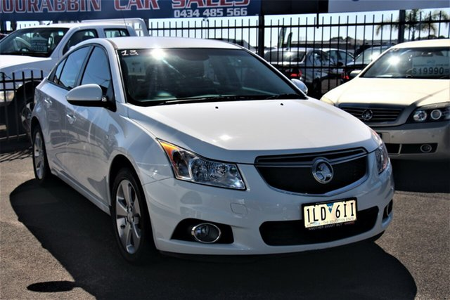 Used Holden Cruze JH Series II MY14 Equipe Cheltenham, 2014 Holden Cruze JH Series II MY14 Equipe White 6 Speed Sports Automatic Sedan