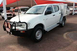2011 Mitsubishi Triton MN MY12 GLX Double Cab White 4 Speed Automatic Utility.