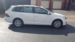 2012 Volkswagen Golf 1K MY12 118 TSI Comfortline White 7 Speed Auto Direct Shift Wagon.