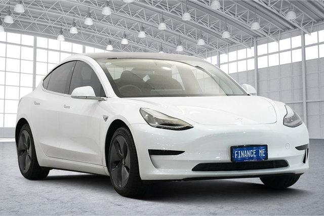 Used Tesla Model 3 Standard Range Plus Victoria Park, 2019 Tesla Model 3 Standard Range Plus White 1 Speed Reduction Gear Sedan