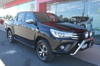 2015 Toyota Hilux GUN126R SR5 Double Cab Black 6 Speed Sports Automatic Utility.