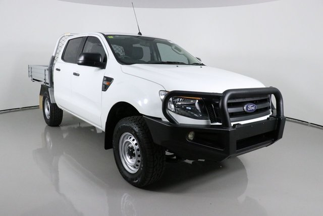 Used Ford Ranger PX XL 2.2 (4x4) Bentley, 2015 Ford Ranger PX XL 2.2 (4x4) White 6 Speed Manual Crew Cab Chassis