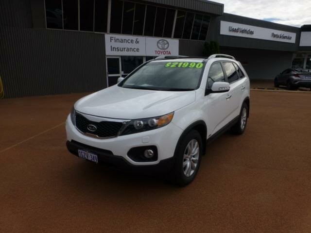 Pre-Owned Kia Sorento XM MY12 Platinum (4x4) Esperance, 2012 Kia Sorento XM MY12 Platinum (4x4) White 6 Speed Automatic Wagon