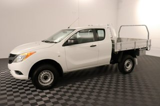 2013 Mazda BT-50 UP0YF1 XT Freestyle White 6 speed Manual Cab Chassis