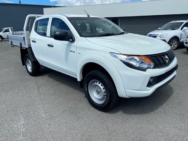 Used Mitsubishi Triton MQ MY18 GLX Double Cab Gladstone, 2018 Mitsubishi Triton MQ MY18 GLX Double Cab White Solid 5 Speed Sports Automatic Cab Chassis