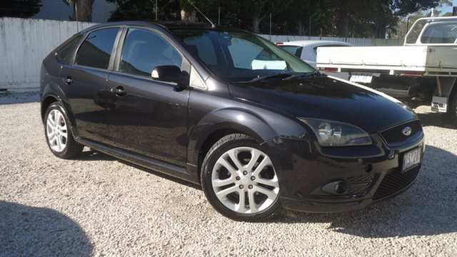 Used Ford Focus LT Zetec Seaford, 2007 Ford Focus LT Zetec Black 5 Speed Manual Hatchback