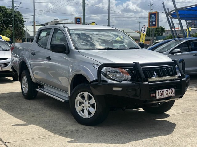 Used Mitsubishi Triton MQ MY17 GLX+ Double Cab Chermside, 2017 Mitsubishi Triton MQ MY17 GLX+ Double Cab Silver 6 Speed Manual Utility