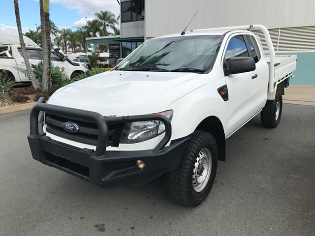 Used Ford Ranger PX XL Acacia Ridge, 2015 Ford Ranger PX XL Cool White 6 speed Manual Cab Chassis
