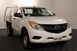 2013 Mazda BT-50 UP0YF1 XT Freestyle White 6 speed Manual Cab Chassis.