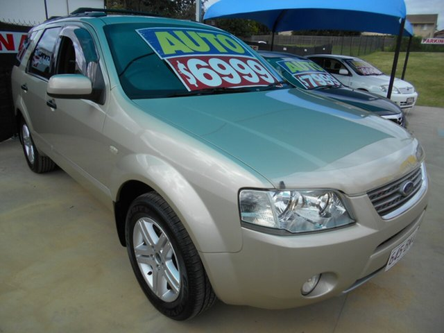 Used Ford Territory SY Ghia Springwood, 2006 Ford Territory SY Ghia Gold 4 Speed Sports Automatic Wagon