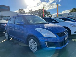 2016 Suzuki Swift FZ MY15 GL Blue 4 Speed Automatic Hatchback.