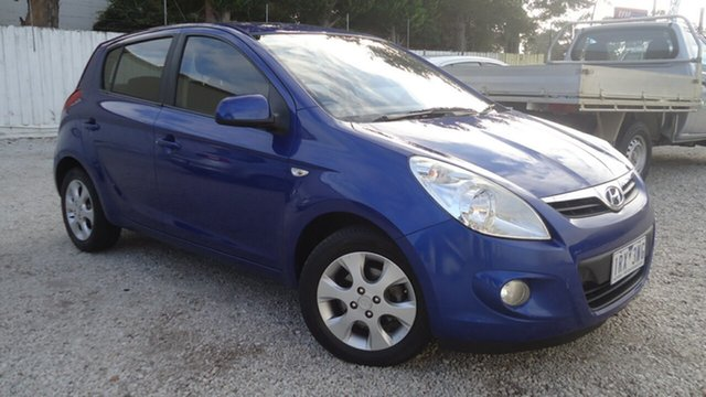 Used Hyundai i20 PB Elite Seaford, 2010 Hyundai i20 PB Elite Blue 4 Speed Automatic Hatchback