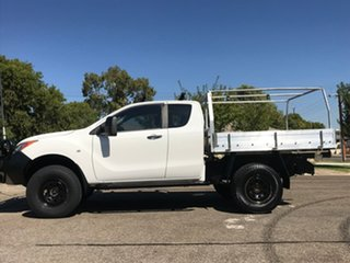 2011 Mazda BT-50 UP0YF1 XT Freestyle White 6 Speed Manual Cab Chassis