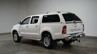 2014 Toyota Hilux KUN26R MY14 SR5 Double Cab Glacier White 5 Speed Automatic Utility.