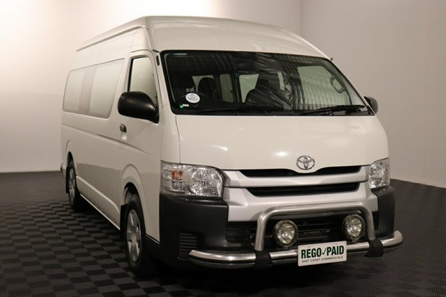Used Toyota HiAce KDH223R Commuter High Roof Super LWB Acacia Ridge, 2018 Toyota HiAce KDH223R Commuter High Roof Super LWB White 4 speed Automatic Bus