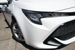 2019 Toyota Corolla Hatch Hybrid ZWE211R Ascent Sport E-CVT Hybrid Glacier White 10 Speed.