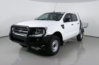 2015 Ford Ranger PX XL 2.2 (4x4) White 6 Speed Manual Crew Cab Chassis.