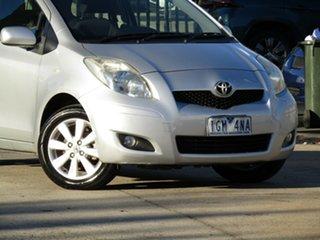 2009 Toyota Yaris NCP90R MY09 YR Adventurine Silver 4 Speed Automatic Hatchback.