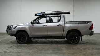 2018 Toyota Hilux GUN126R SR Double Cab Silver 6 Speed Manual Cab Chassis